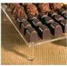 10 Bases plexi à chocolats avec 4 pieds collés - A partir de (selon la taille):