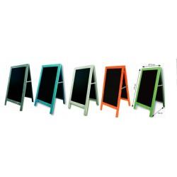 Chevalet, cadre ardoise et stop-trottoir (5 couleurs au choix):