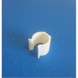 25 Clips PVC blanc pour tube