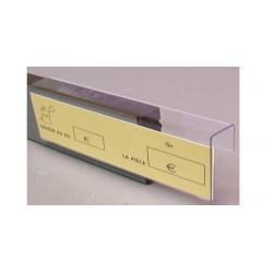 25 Supports étiquettes PETG - pince tablette verticale