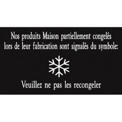 """Pancarte symbole """"Flocon"""" - 123 128FG"""