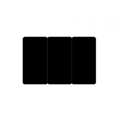 Cartes PVC noir mat sécables 1/3_1/3_1/3 en 3 formats de 28 x 54 mm