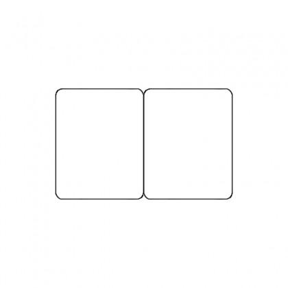 Cartes pvc blanc sécables 1/2_1/2