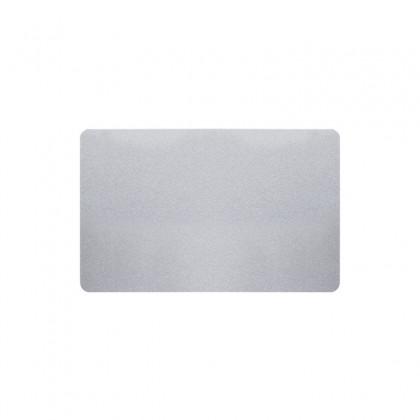 Cartes PVC argent pailleté - 54 x 86 mm