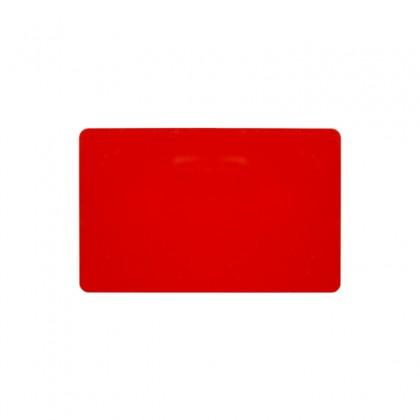 Cartes PVC rouge brillant 54 x 86 mm