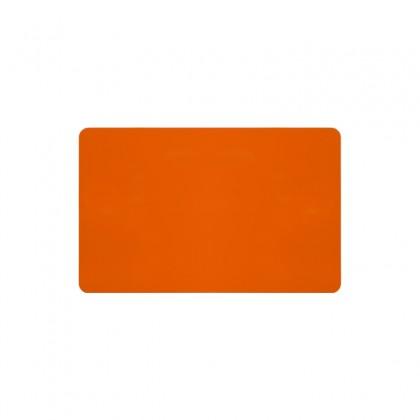 Cartes PVC orange brillant 54 x 86 mm