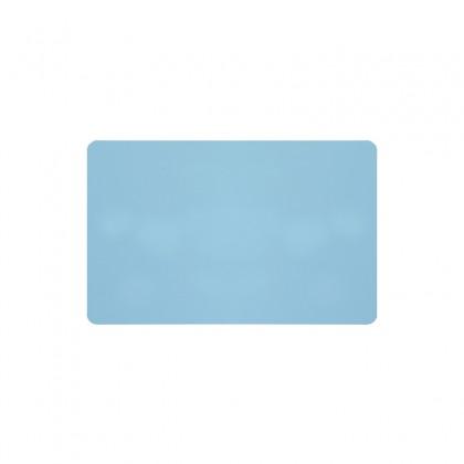 Cartes PVC bleu clair brillant - 54 x 86 mm