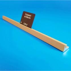 Réglette aluminium à 1 rainure - OR - lg 18 x ht 13 mm - Prix du Mètre: