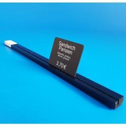 Réglette plexi à 1 rainure - NOIR - ht 8 x lg 20 mm - Prix du Mètre: