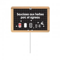 25 Étiquettes à texte - Gamme ROULETIQ - ARDOISE AVEC FILETS - 103 13_T