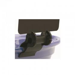 25 Supports étiquettes - CLIP pvc pince plat multiangle - Noir