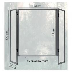 Ecran de protection PVC - 3 panneaux à charnières : H1000x700mm