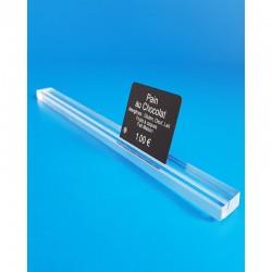 Réglette plexi à 1 rainure - TRANSPARENT - ht 8 x lg 15 mm - LG 500 mm