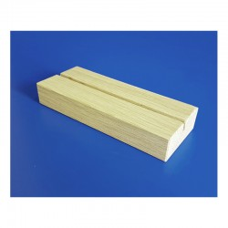 10 Socles bois en chêne naturel avec 1 rainure - lg 150 mm