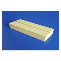 10 Socles bois en chêne naturel avec 1 rainure - lg 210 mm