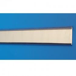 10 Glissières porte-étiquettes pliés en aluminium - lg 1000 mm - ht 25 mm