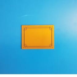 50 Étiquettes neutres - Fond or à 2 liserés noirs - Ht 70 x lg 100 mm
