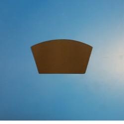 50 Étiquettes neutres arrondies - polypropylène noir - Ht 58 x lg 100 mm