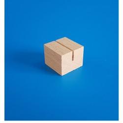 """10 Socles bois """"cube"""" à une rainure droite"""