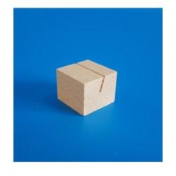 """10 Socles bois """"cube"""" à une rainure inclinée"""