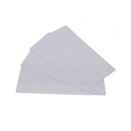 200 Cartes PVC Blanc longues 50 x 120 mm - Pour Edikio Flex -  C4122