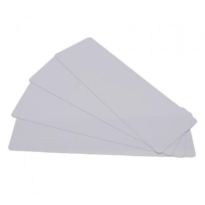 200 Cartes PVC Blanc longues 50 x 150 mm - Pour Edikio Flex -  C4152