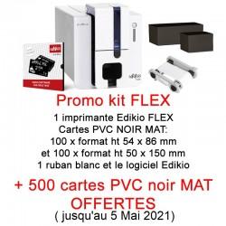 Kit evolis EDIKIO PRICETAG FLEX avec 500 cartes offertes - PROMO