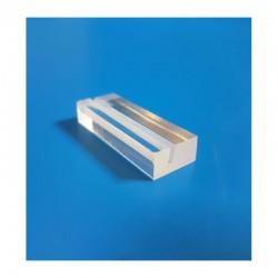 "25 socles ""rectangles"" plexi TRANSPARENT à 1 rainure - LG 40 x lg 15 mm"